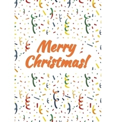 Merry Christmas card cover with exploding popper vector