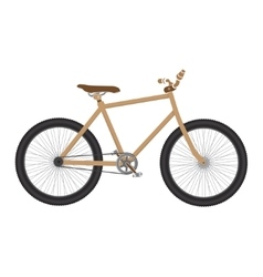 MTB Bicycle brown isolated vector image