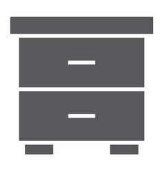 nightstand glyph icon furniture and home bedside vector image