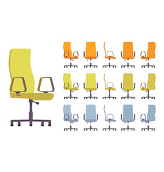 office chair interior set vector image