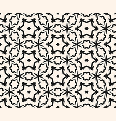 ornamental pattern stars pattern floral figures vector image