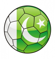 Pakistan flag on soccer ball vector