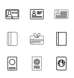 pass icons vector image