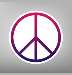 peace sign purple gradient vector image