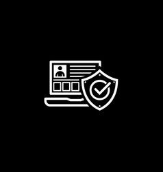 personal security icon flat design vector image