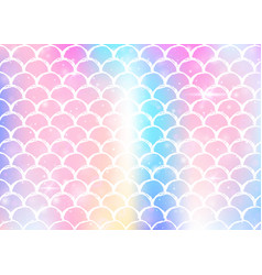 princess mermaid background with kawaii rainbow vector image