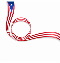 Puerto rican wavy flag background vector