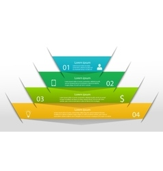 Pyramid infographic template vector image