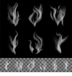 Realistic Smoke vector