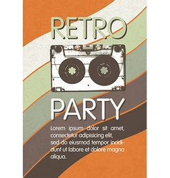 Retro music party poster design Disco music vector
