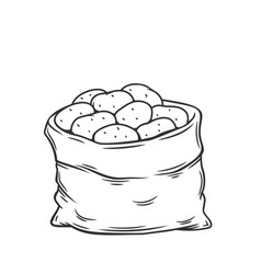 Sack potatoes vector
