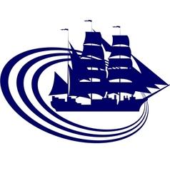 Sailing ship-5 vector