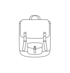 school bag line drawing vector image vector image