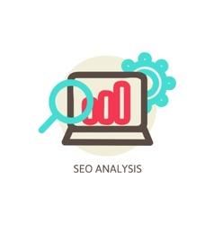 SEO analysis process concept vector