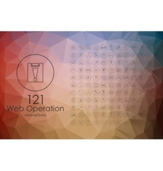 Set of web operation icons vector image