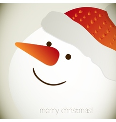 Snowman for Christmas design vector image