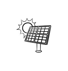 solar energy industry hand drawn sketch icon vector image