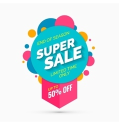 Super sale banner limited time only vector image
