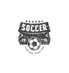 Template emblem for soccer championship vector