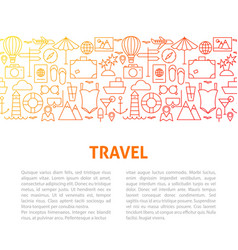 Travel line design template vector