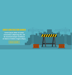 under construction banner horizontal concept vector image vector image