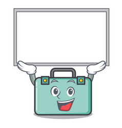 Up board suitcase character cartoon style vector