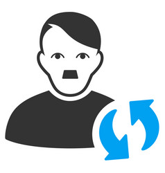 User update flat icon vector