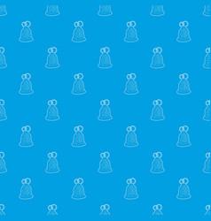 wedding cake pattern seamless blue vector image