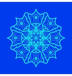 Yoga ornament kaleidoscopic yantra indian art vector