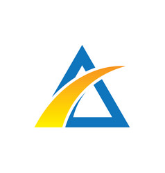 abstract triangle arrow business logo vector image