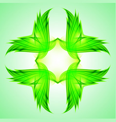 Abstraction green symbol for web design vector