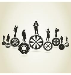 Business a gear wheel vector image vector image