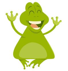 cartoon frog animal character vector image vector image