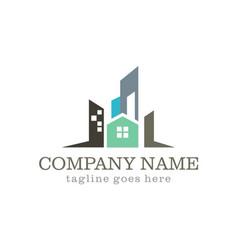 Home cityscape company logo vector