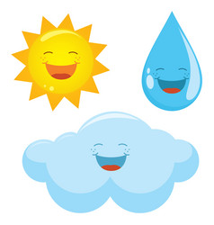 of weather icons vector image
