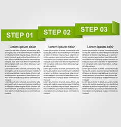Paper infographic design element vector image