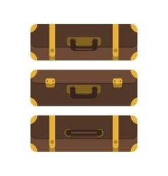 Set of three suitcases View from above vector image vector image