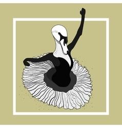 swan ballerina dancing in a skirt vector image vector image