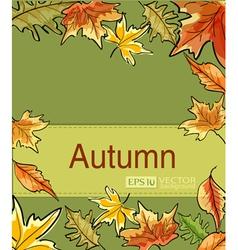 autumn3 vs vector image vector image