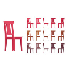 chair interior set vector image vector image