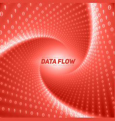 Data flow visualization red flow of vector