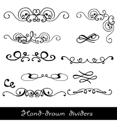 Hand drawn line border vector image vector image