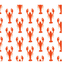 lobster pattern vector image vector image