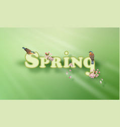 spring word vector image