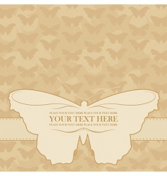 vector butterfly card vector image vector image
