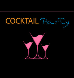 Cocktail party pink vector