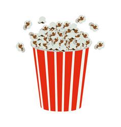 color movie pop corn icon vector image vector image