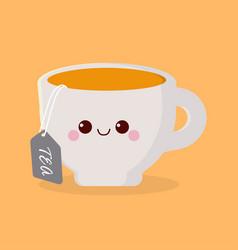 cute cartoon cup vector image
