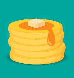 isometric icon of pancakes vector image