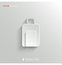 Luggage icon - white app button vector image